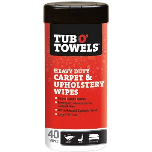 Tub O' Towels Carpet & Upholstery Wipes 40 Count