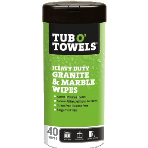 Tub O' Towels Granite & Marble Wipes 40 Count